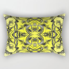 silver in yellow Digital pattern with circles and fractals artfully colored design for house Rectangular Pillow