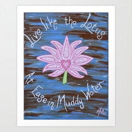 Muddy Lotus Art Print