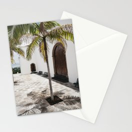 Palm tree growing in the street. La Palma, Canary Island. Stationery Cards