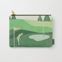On The Green Two Stokes Under Carry-All Pouch