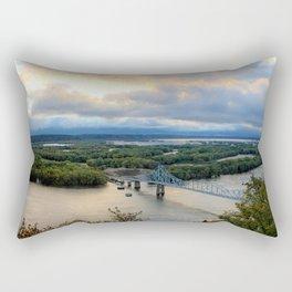 Black Hawk Autumn Pano Rectangular Pillow