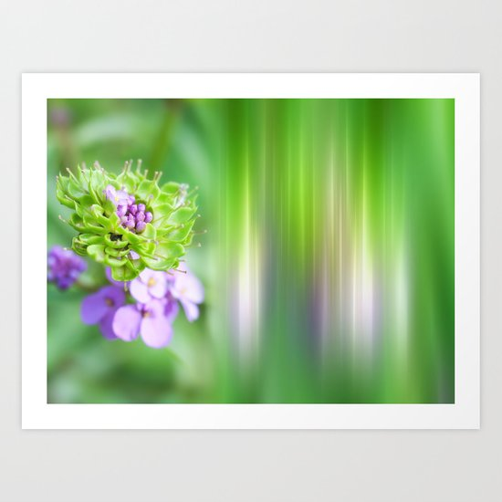 VERDE - Abstract green flower Art Print