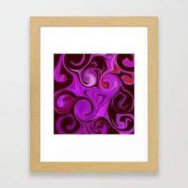 Purple Haze #Abstract #DigitalArt #1970s Framed Art Print