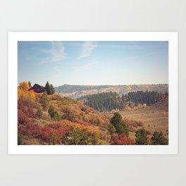 Mountain Cabin Retreat x Colorado Rustic Photography Art Print