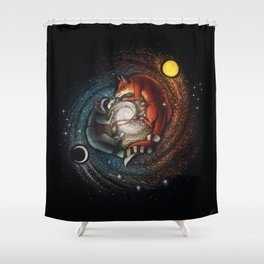 The Racoon & The Fox Shower Curtain