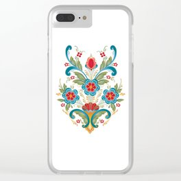 Nordic Rosemaling Clear iPhone Case