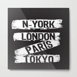 London Paris New York Metal Print