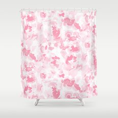 Abstract Flora Millennial Pink Shower Curtain