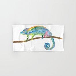 Watercolor chameleon Hand & Bath Towel
