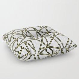 Ab Blocks White Gold Floor Pillow
