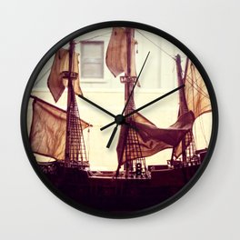 Clipper ship Wall Clock