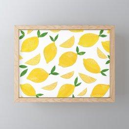 Lemon Cut Out Pattern Framed Mini Art Print