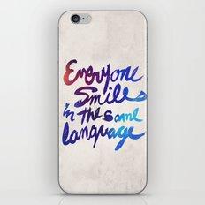 Everyone Smiles iPhone & iPod Skin