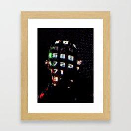 digital portret Framed Art Print