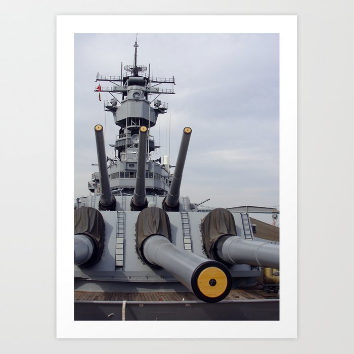 USS Iowa Art Print by binarygod
