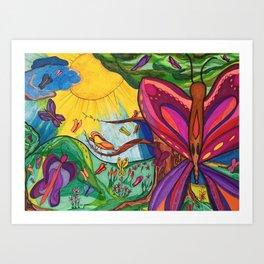 Butterfly Bliss Art Print