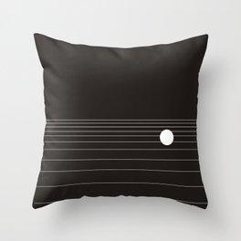 Calm water Lake Moon Minimal Throw Pillow