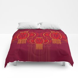 Floral Chinese Lantern Comforters