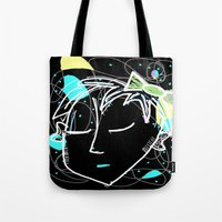 bow Tote Bags featuring Bow by transFIGure