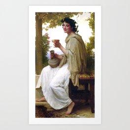 "William-Adolphe Bouguereau ""Bacchante"" Art Print"