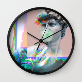 Vaporwave Glitch Wall Clock