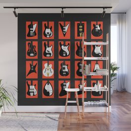 The Classic Electric Guitar Gallery Wall Mural
