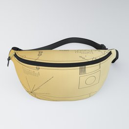Voyager 1 Golden Record #2 Fanny Pack