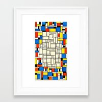 mondrian Framed Art Prints featuring Mondrian by PureVintageLove