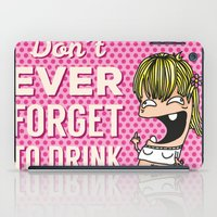 drunk iPad Cases featuring DRUNK GIRL by flydesign