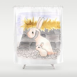 Long Haired Jackalope and baby Shower Curtain
