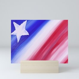 """Nearly Patriotic #6"" Painting Mini Art Print"