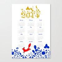 calendar Canvas Prints featuring 2014 calendar by itsbyrosie
