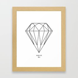 Black Diamond Framed Art Print