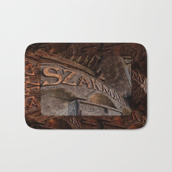 Hungary - Szakmar - Sign Bath Mat