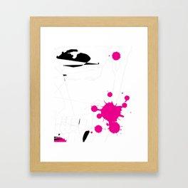 Magenta Abstract Rick Genest Framed Art Print