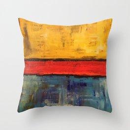Primary Rothko Throw Pillow