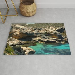 The small cliffs of rottnest island Rug