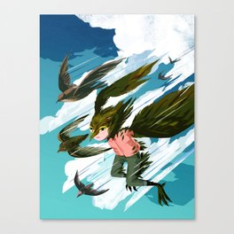 """In Which I Try to Become a Swift"" by Jenn Liv for Nautilus Canvas Print"