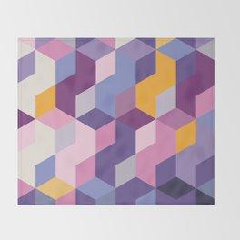 Violet Pattern Throw Blanket