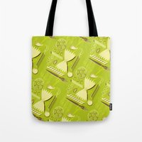 pasta Tote Bags featuring Pasta Pattern by Zoe Lotus