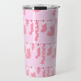 Holiday Socks in Sugar Plum Fairy Travel Mug