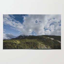 Landscape Photography   Pine Forest and Blue Sky   By Magda Opoka Rug