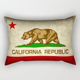 California Republic Retro Flag Rectangular Pillow