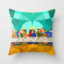Curves - Last Supper Throw Pillow