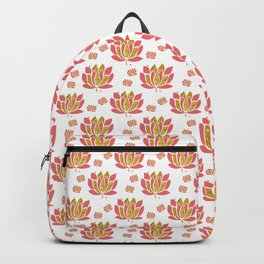 Pink Lotus Flowers Backpack