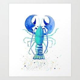 Neptune's Lobster Art Print
