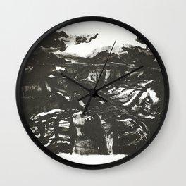 Northern Rim Grand Canyon Lithograph Wall Clock