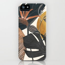 Abstract Tropical Art III iPhone Case