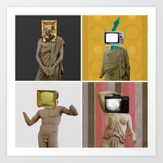 Stillstand · TV Statuen Mix 2 Art Print