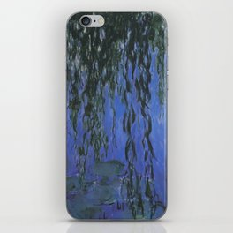 Water Lilies and Weeping Willow Branches by Claude Monet iPhone Skin